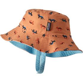 Patagonia Sun Bucket Hat Kids tamar tiger/peach sherbet